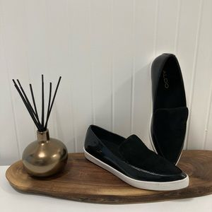 ALDO Pointed Suede and Patent Loafers